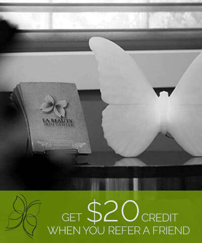 Get $20 Credit When You Refer A Friend - for Laser Hair Removal - Glendale location