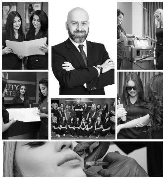 photo collage of the LA Beauty Skin Center team